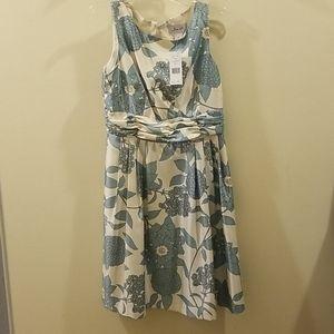 Beautiful aqua flower dress